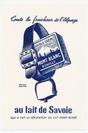 Buvard 12 X 18.1 Double Crème MONT BLANC à Rumilly Illustrateur Roland Ansieau  Clochette - Produits Laitiers
