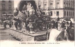 FR44  NANTES - Mi Careme 1928 - Le Char De La Reine Et Ses Nains - Animée - Belle - Carnevale