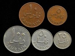 Bahrain 5 Coins Set. 5 - 100 FILS 1965 - Bahrein