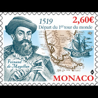 Monaco 2019 - Fernand De Magellan ** (500ème Anniversaire Du Départ Du 1er Tour Du Monde) - Unused Stamps