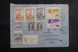 SAINT MARIN - Enveloppe En Recommandé Pour Bruxelles En 1943 Avec Contrôle Postal , Affranchissement Plaisant - L 42158 - Saint-Marin