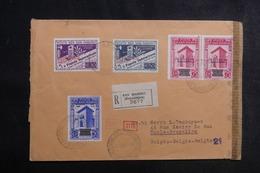 SAINT MARIN - Enveloppe En Recommandé Pour Bruxelles Avec Contrôle Postal , Affranchissement Plaisant - L 42159 - Saint-Marin