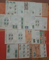 Algerie  - Lot De  Lettres-DEPART 1 EURO-48 Pieces -8 Fragments  - Beaux Cachets Et Beaux Affranchissements (1962-1963) - Algeria (1962-...)
