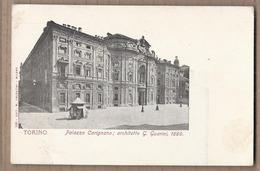 CPA ITALIE - TURIN - TORINO - Palazzo Carignano ; Architetto G. Guarini , 1680 - TB PLAN + KIOSQUE - Palazzo Carignano