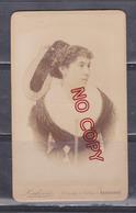 Au Plus Rapide Photo CDV Portrait Femme Coiffe Folklore Tradition Photographe Ludovic Narbonne - Anciennes (Av. 1900)