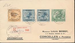 RUANDA URUNDI REGISTERED COVER FROM USUMBURA 02.03.28 TO SWITZERLAND - 1924-44: Briefe U. Dokumente
