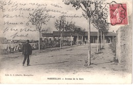 FR34 MARSEILLAN - Albaille - Avenue De La Gare - Animée - Belle - France