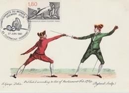 19 / 9 / / 26   -  CHAPIONNATS  DU. ONDE  D'ESCRIME   - CPM  PREMIER  JOUR  - 27 JUIN  1981 - Stamp's Day