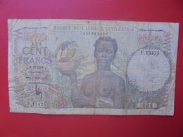 AFRIQUE De L'OUEST 100 FRANCS 1951 CIRCULER (B.6) - États D'Afrique De L'Ouest