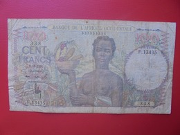 AFRIQUE De L'OUEST 100 FRANCS 1951 CIRCULER (B.6) - Stati Dell'Africa Occidentale