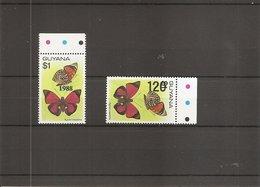 Papillons ( 2226/2227 XXX -MNH- De Guyana)) - Mariposas