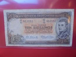 AUSTRALIE 10 SHILLINGS 1954-60 CIRCULER (B.6) - Emissions Gouvernementales Pré-décimales 1913-1965