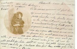 Meuse BENOITE VAUX  Carte Photo 1900 Fillette Chien - Autres Communes