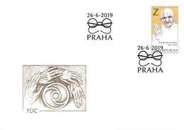 FDC 1037 Czech Republic Mahatma Gandhi 2019 - Mahatma Gandhi