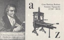 CARTOLINA RICORDO ANNIVERSARIO MORTE GIAN BATTISTA BODONI (1740 - 1813) 19.2.1983 INCISORE TIPOGRAFO - PARMA ITALIA - 1981-90: Storia Postale