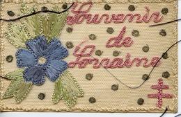 CPA Colorisée Système Brodée. SOUVENIR DE LORRAINE. Croix De Lorraine . 1918. - Militari