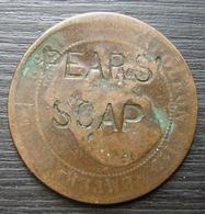Napoléon: Pièce Avec Contremarque Pub Pears' Soap (savon) Et BLIN Sur L'autre Face, Voir Photos ! - France