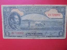 ETHIOPIE 1 DOLLAR 1945 CIRCULER (B.6) - Ethiopië