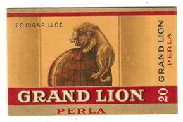 ETUI BOITE 20 CIGARILLOS GRAND LION PERLA - TABAC - TABACOS PRIMEROS - CIGARE - MAPPEMONDE - Étuis à Cigares
