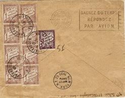 23-5-39 - Par 1er Service Aérien France-Etate-Unis Affr. à 3,75  F -  TAXE  8,50 F Pour Le Retour - Postmark Collection (Covers)