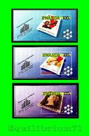 BL105/107** (1368/1370) ND/Ongetand - Exposition Philatélique Belgica 90 / Postzegeltentoonstelling Belgica 90 - RWANDA - Rwanda