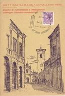 REPUBBLICA ITALIANA - ANNULLO SETTIMANA BAGNACAVALLESE 1970 SU CARTOLINA MANIFESTAZIONE 27.9.70 - BAGNACAVALLO - 6. 1946-.. Repubblica