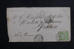 PEROU - Enveloppe Pour La France En 1870 Par Voie Anglaise , Affranchissement Et Cachets Plaisants - L 42200 - Pérou