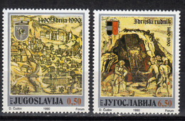 Yugoslavia,500 Years Of Mercuru Mine In Idrija 1990.,MNH - 1945-1992 República Federal Socialista De Yugoslavia