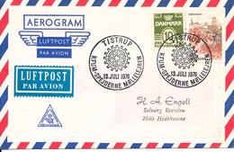 Denmark Air Mail Cover Scout Scouting Tistrup 13-7-1976 KFUM Spejderne Möllelejren - Scouting
