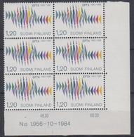 Finland 1985 Efta 1v (bl Of 6, Corner)  ** Mnh (445132) - Europese Gedachte