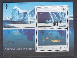 Australia 1990 Antarctica / Joint Issue With USSR M/s ** Mnh (32624M) Promotion - Australisch Antarctisch Territorium (AAT)
