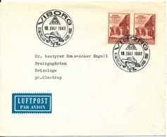 Denmark Cover Scout Scouting Viborg 18-7-1962 Landslejren Hald 1962 - Scouting