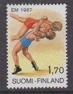 Finland 1987 European Championship Wrestling 1v ** Mnh (44513A) - Europese Gedachte