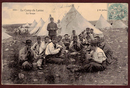 La Cavalerie Camp Du Larzac La Soupe Tente - Aveyron 12230 - Camp Militaire Militaires - La Cavalerie
