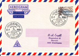 Denmark Air Mail Cover Scout Scouting Vinderup 8-7-1981 Trevaeld 1981 Nordisk Senior Roverlejr - Scouting