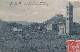 CPA 20 2A CARBINI EGLISE CLASSEE MONUMENT HISTORIQUE  VOIR ETAT - Unclassified