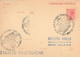 """REPUBBLICA ITALIANA - ANNULLO """"CELANO (AQ) 1ª TRIENNALE EUROPEA ARTE SACRA 8.2.1975"""" SU INTERO POSTALE - 1971-80: Storia Postale"""