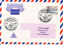 Denmark Air Mail Cover Scout Scouting Vinderup 9-7-1981 Trevaeld 1981 Nordisk Senior Roverlejr - Scouting