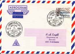 Denmark Air Mail Cover Scout Scouting Vinderup 10-7-1981 Trevaeld 1981 Nordisk Senior Roverlejr - Scouting