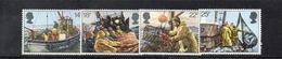 APR2553 - GRAN BRETAGNA 1981 , EII  Unificato Serie 1007/1010  ***  MNH  (2380A). Pesca - 1952-.... (Elisabetta II)