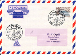 Denmark Air Mail Cover Scout Scouting Vinderup 11-7-1981 Trevaeld 1981 Nordisk Senior Roverlejr - Scouting
