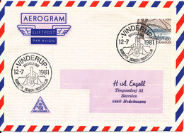 Denmark Air Mail Cover Scout Scouting Vinderup 12-7-1981 Trevaeld 1981 Nordisk Senior Roverlejr - Scouting