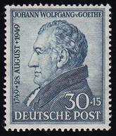 Bizone 110 Goethe 30 Pf. Schwarzkobalt ** Postfrisch - Bizone