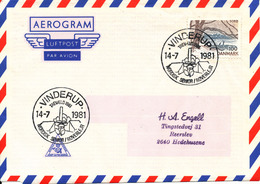 Denmark Air Mail Cover Scout Scouting Vinderup 14-7-1981 Trevaeld 1981 Nordisk Senior Roverlejr - Scouting