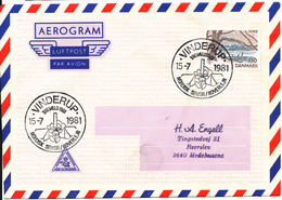 Denmark Air Mail Cover Scout Scouting Vinderup 15-7-1981 Trevaeld 1981 Nordisk Senior Roverlejr - Scouting