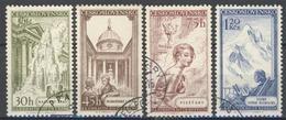 Tchécoslovaquie 1956 Mi 958-61 (Yv 848-51), Obliteré - Used Stamps