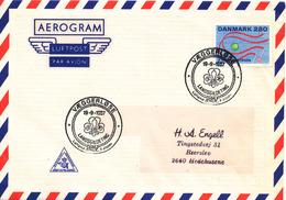 Denmark Air Mail Cover Scout Scouting Vaeggerlöse 19-9-1987 Landsgildeting Lolland Falster - Scouting