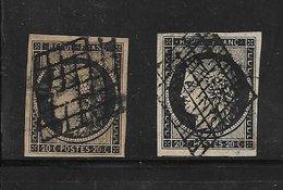 France Type Ceres N°3 Oblitere Par 2 Cote 130€ - 1849-1850 Cérès