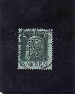 "DEUTSCHE, ALLEMAGNE, 5 P, BAVARIA , Perforé Perfin : "" E "", 1911, Gebraucht - Bavière"