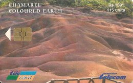 Télécarte Maurice Mauritius Chamarel Coloured Earth - Mauritius